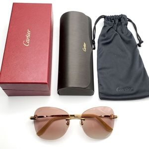 NEW! Cartier Gold Sunglasses CT00915